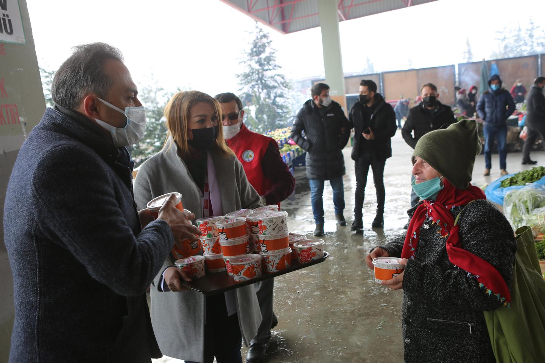 Bolu Belediyesi'nden vatandaşlara kandil lokması